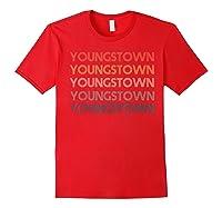 Stown Ohio Pride Vintage State Retro 70s Ohio Shirts Red