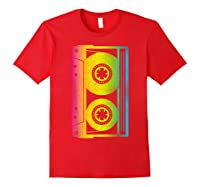 Cassette Tape 80s 90s Vintage Retro Funny Halloween Shirts Red