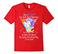 April Girl The Soul Of A Mermaid The Fire Of A Lioness Shirts Red