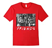 Halloween Horror Team Scary Masks Movies Friends New Shirt Red