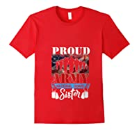 Proud Army National Guard Sister Mothers Day Shirt T-shirt Red