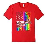 Stonewall Riots 50th Lbgtq Gay Pride American Flag Shirts Red