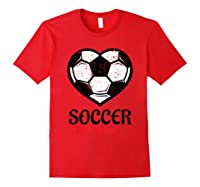 Soccer Is My Valentine T Shirt Galentines Day Tee Red