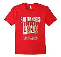 San Francisco 1946 Sf Skyline Throwback Football Shirts Red
