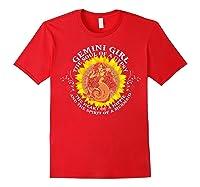 Gemini Girl The Soul Of A Mermaid Tshirt Birthday Gifts Red
