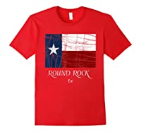 Texas Flag City State Shirts Red