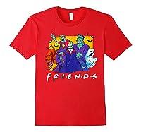 Friends Halloween Horror T Shirt Red
