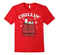 Peanuts Snoopy Holiday Chillin Shirts Red