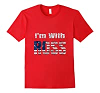 Betsy Ross 1776 Colonial American Battle Flag I'm With Ross Tank Top Shirts Red