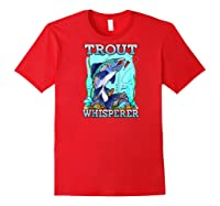 Funny Trout Fishing, Fish Fisherman Gifts Baseball Shirts Red