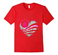 Funny Love Heart Breast Cancer Awareness Pink Ribbon Month Tank Top Shirts Red