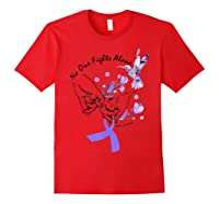 In This Family No One Fights Alone Funny Lupus Awareness T-shirt Red