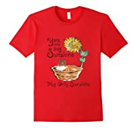 You Are My Sunshine Scotch Collie T Shirt, Sunflower And Sco Red