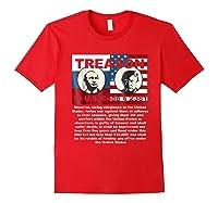 Trump Putin Treason T Shirt Impeach 45 Code 2381 Treason Red
