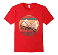 Bookworm Vintage Retro Bookish Reading Read A Book Day Gift T Shirt Red
