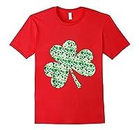 Shamrock T Shirt Saint Patricks Day Red