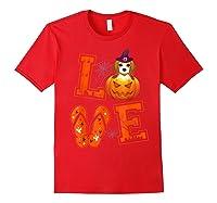 Love Beagle Pumpkin Halloween T-shirt Halloween Gifts Red