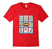 The Look Of Spongebob Characters Shirts Red