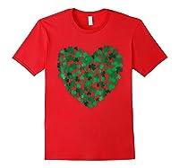 Happy Saint Patrick S Day Shamrock Heart T Shirt Red