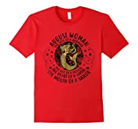 August Woman The Soul Of A Mermaid Tshirt For Black Red
