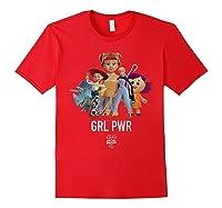 Disney Pixar Toy Story 4 Grl Pwr Distressed T-shirt Red