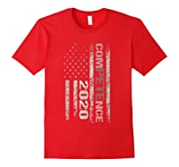 Competence 2020 American Flag Tshirt President Election Tee Red
