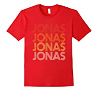 Jonas First Given Name Pride Vintage Style T Shirt Red