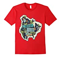 Road Trip 2019 Family Summer Vacation Hippie Van Surf Gift Zip Shirts Red