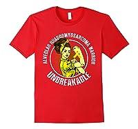 Unbreakable Alveolar Rhabdomyosarcoma Warrior T Shirts Red