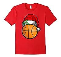 Ball Basketball Santa Hat Christmas Matching Funny Gifts Shirts Red