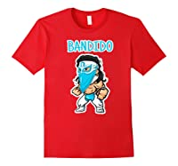 Feel Ink Bandido Bandit Lucha Libre Mexican Pro Wrestler Premium T Shirt Red