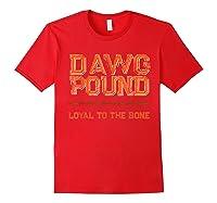 Dawg Pound Shirt Loyal Bone T-shirt Red