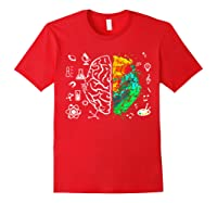 Colorful Brain Science And Art Love Science Art Gifts T Shirt Red
