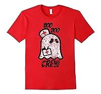 Vintage Boo Boo Crew Funny Halloween Ghost Nurse Nursing Shirts Red