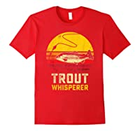 Trout Fishing Brook, Brown, Rainbow Trout Fish Gift Shirts Red