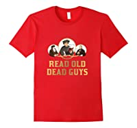 Read Old Dead Guys Funny Theology T Shirt Red
