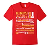 39th Birthday Gift Kings Born In March 1981 39 Years Old Shirts Red