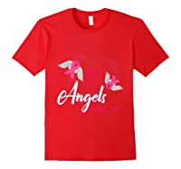 I Believe There Are Angels Among Us Breast Cancer Awareness T Shirt Red