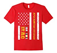 Proud Iraq Afghanistan Veteran Flag Gifts For Veteran Day T Shirt Red