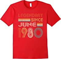 Legendary Since June 1980 41st Birthday 41 Years Old T-shirt Red