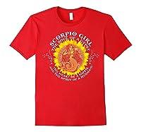 Scorpio Girl The Soul Of A Mermaid Tshirt Birthday Gifts Red