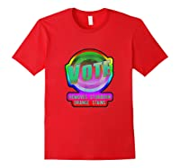 Anti Trump Vote Detergent Funny Watercolor Vintage T Shirt Red