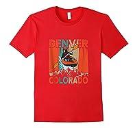 Denver Colorado Water River Rapids Kayaking Shirts Red