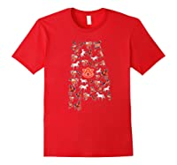 Auburn Tigers Horses Inside State Apparel Shirts Red