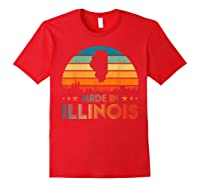 Vintage Made In Illinois Shirts Red