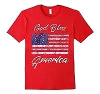 Betsy Ross American Flag Shirt Patriotic God Bless America Red