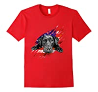 Black Labrador Usa Flag Lab Owner Bird Duck Hunter Gift Shirts Red