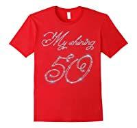 50th Birthday Gift Retro Vintage Shirt - My Shining 50 Red