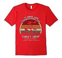 Thanksgiving Turkey Funny Wkrp Turkey Drop Shirts Red