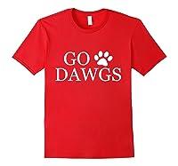 Go Dawgs Fun Shirts Red